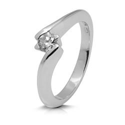 Solitario de oro blanco 18Kt con diamante (AN123939)