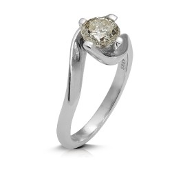 Solitario de oro blanco 18Kt con diamante (AN123948)