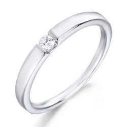 Solitario de oro blanco 18 Kt con diamante (AN123972)