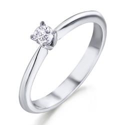 Solitario de oro blanco 18Kt con diamante (AN125734)