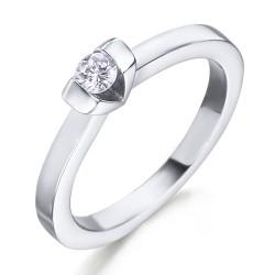 Solitario de oro blanco 18Kt con diamante (AN125850)