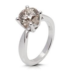 Solitario de oro blanco 18Kt con diamante (AN125866)