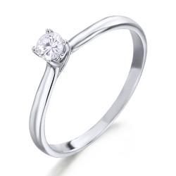 Solitario de oro blanco 18Kt con diamante (AN125951)