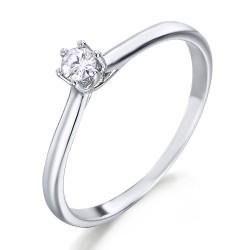 Solitario de oro blanco 18Kt con diamante (AN125963)