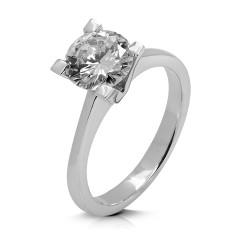 Solitario de oro blanco 18Kt con diamante (AN125985)