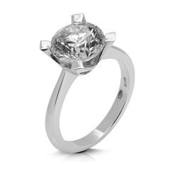 Solitario de oro blanco 18Kt con diamante (AN126015)