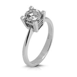 Solitario de oro blanco 18Kt con diamante (AN126071)
