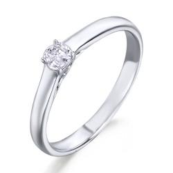 Solitario de oro blanco 18Kt con diamante (AN126107)