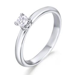 Solitario de oro blanco 18Kt con diamante (AN126108)