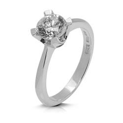 Solitario de oro blanco 18Kt con diamante (AN126173)
