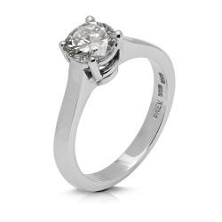 Solitario de oro blanco 18Kt con diamante (AN126194)