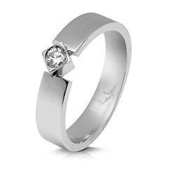 Solitario de oro blanco 18 Kt con diamante (AN126246)