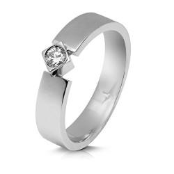 Solitario de oro blanco 18 Kt con diamante (AN126246)