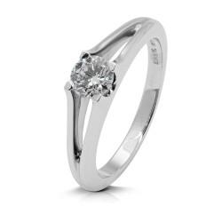 Solitario de oro blanco 18Kt con diamante (AN126287)