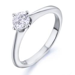 Solitario de oro blanco 18Kt con diamante (AN126288)