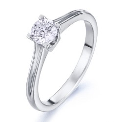 Solitario de oro blanco 18Kt con diamante (AN126291)