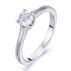Solitario de oro blanco 18Kt con diamante (AN126291)