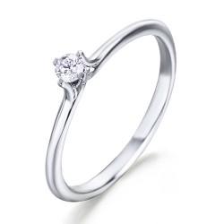 Solitario de oro blanco 18Kt con diamante (AN126308)
