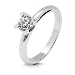 Solitario de oro blanco 18Kt con diamante (AN126314)