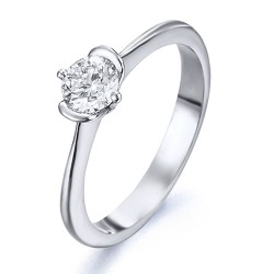 Solitario de oro blanco 18Kt con diamante (AN126319)