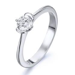 Solitario de oro blanco 18Kt con diamante (AN126319)