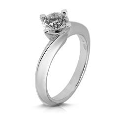 Solitario de oro blanco 18Kt con diamante (AN126325)