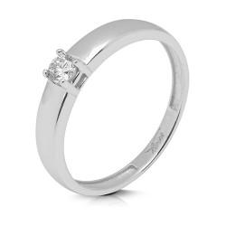Solitario de oro blanco 18 Kt con diamante (AN126340)
