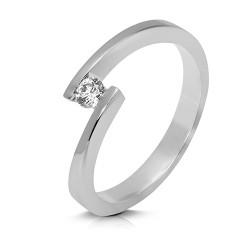 Solitario de oro blanco 18 Kt con diamante (AN126342)