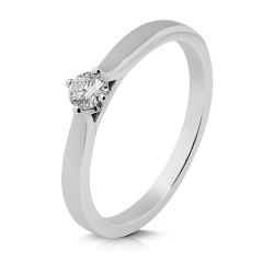 Solitario de oro blanco 18 Kt con diamante (AN126544)
