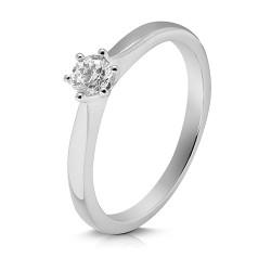 Solitario de oro blanco 18 Kt con diamante (AN126577)