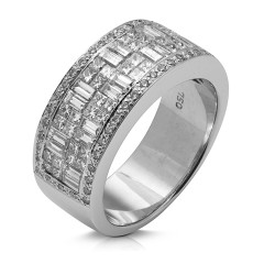 Anillo diseño de oro blanco 18Kt con diamantes (AN1401446)