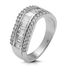 Anillo diseño de oro blanco 18Kt con diamantes (AN146787)