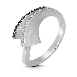Anillo diseño de oro blanco 18 Kt con diamantes (AN146873)