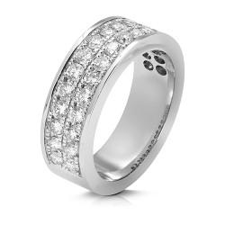 Anillo diseño de oro blanco 18 Kt con diamantes (AN148146)