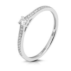 Anillo diseño de oro blanco 18 Kt con diamantes (AN1484303)