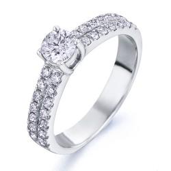 Anillo diseño de oro blanco 18Kt con diamantes (AN1484347)