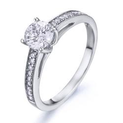 Anillo diseño de oro blanco 18Kt con diamantes (AN1484349)