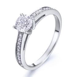 Anillo diseño de oro blanco 18Kt con diamantes (AN1484352)
