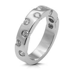 Anillo diseño de oro blanco 18Kt con diamantes (AN1484362)