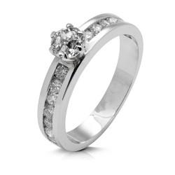 Anillo diseño de oro blanco 18Kt con diamantes (AN1484375)