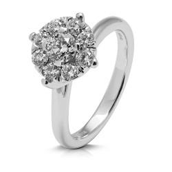 Rosetón de oro blanco 18Kt con diamantes (AN1484397)