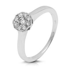 Rosetón de oro blanco 18 Kt con diamantes (AN1484418)