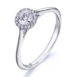Rosetón de oro blanco 18Kt con diamantes (AN1484425)