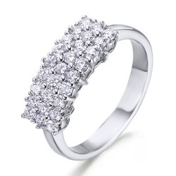 Anillo diseño de oro blanco 18Kt con diamantes (AN1484451)