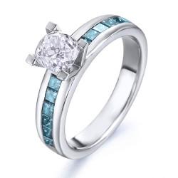anillo diseño de oro blanco 18Kt con diamantes (AN1484473)
