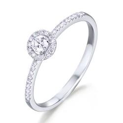 Anillo diseño de oro blanco 18Kt con diamantes (AN148509)