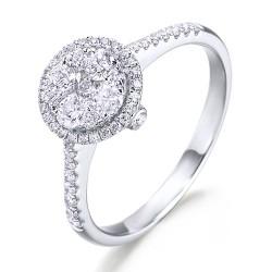 Anillo diseño de oro blanco 18Kt con diamantes (AN148511)