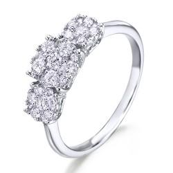 Anillo diseño de oro blanco 18Kt con diamantes (AN148512)