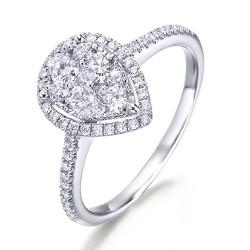 Anillo diseño de oro blanco 18Kt con diamantes (AN148513)