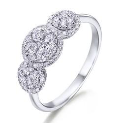 Anillo diseño de oro blanco 18Kt con diamantes (AN148523)